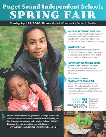 Independent School Spring Fair and Financial Aid